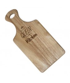 King/Queen of the Kitchen Large Paddle Chopping Board